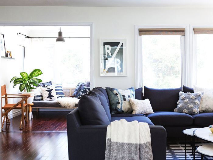 Behold the 12 Navy Blue Couches We All Secretly Ne