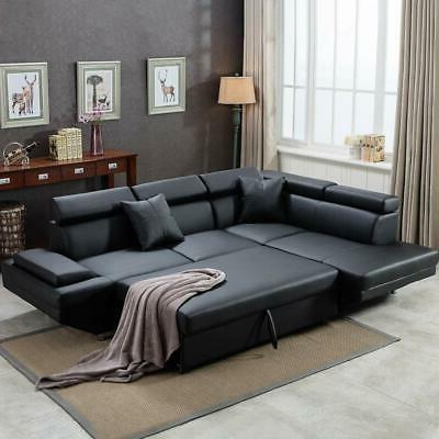 Contemporary Sectional Modern Sofa Bed - Bla