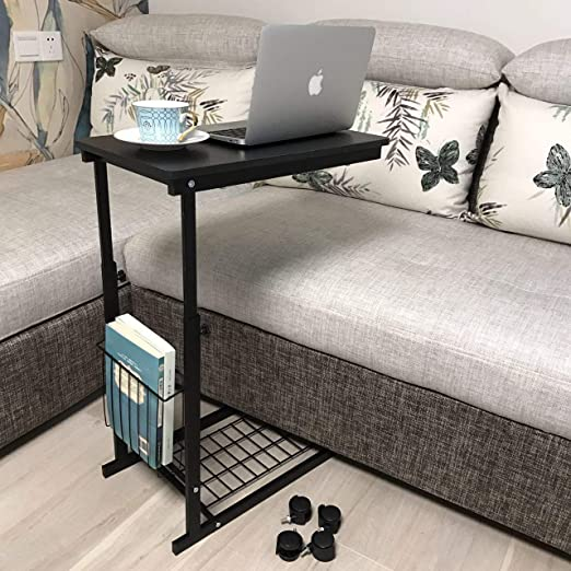 Amazon.com: micoe Sofa Side Table with Wheels Couch Table That .