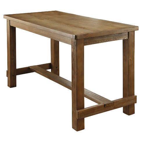 Eliza Rustic Counter Height Table Natural - IoHOMES : Targ