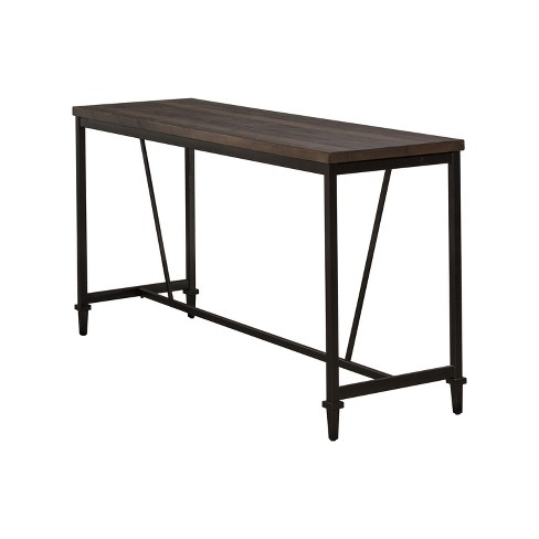 Trevino Counter Height Table Brown/Copper Metal - Hillsdale .