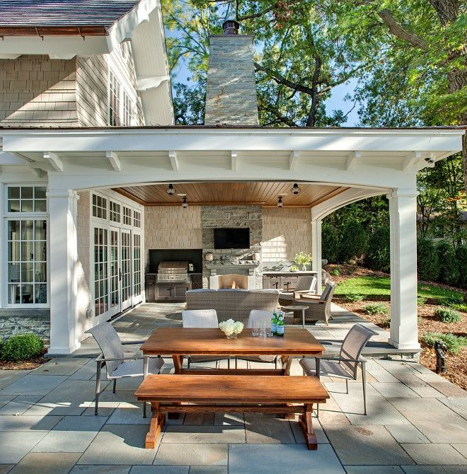 Patio. Combination of open patio and covered patio with outdoor .