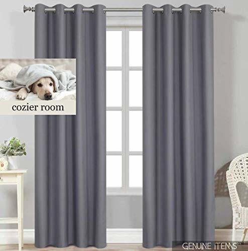 GENUINE ITEMS™ Bedroom Curtains 84 Inch Length, Gray Curtains .