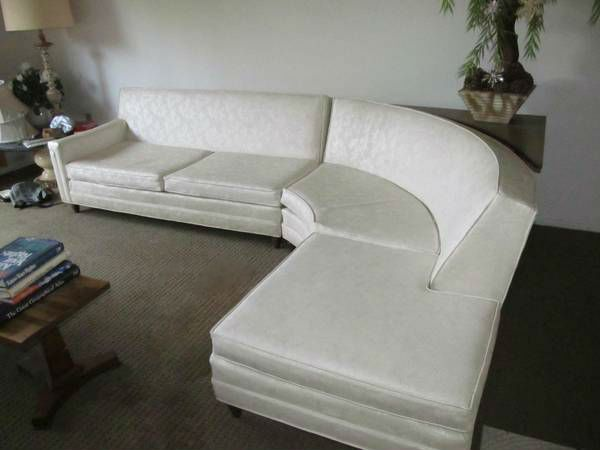 Vintage 1963 Modern Curved Sectional Sofa | Curved sectional .