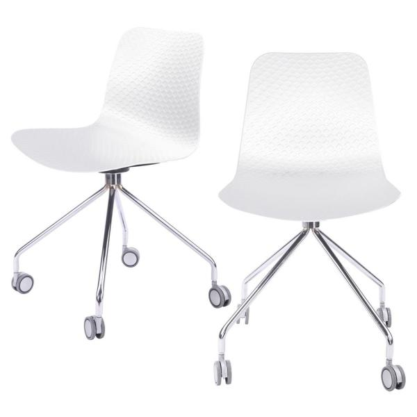 CozyBlock Hebe Series White Office Chair Designer Task Chair .