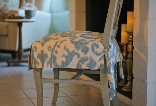Removable slipcovers for the dining room. This is exactly what I .