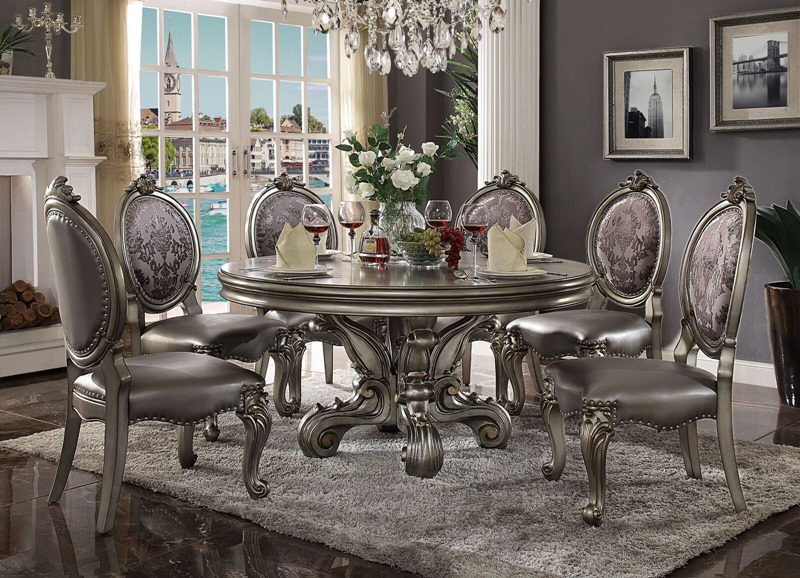 Acme | 66840 Versailles Round Formal Dining Room Set in .