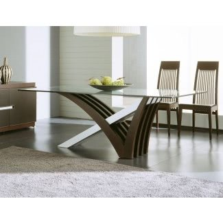 Glass Top Dining Tables With Wood Base for 2020 - Ideas on Fot