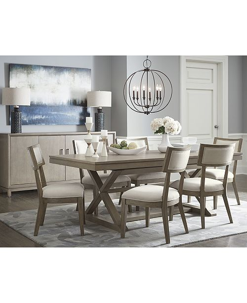 Furniture Rachael Ray Highline Expandable Dining Furniture, 7-Pc .