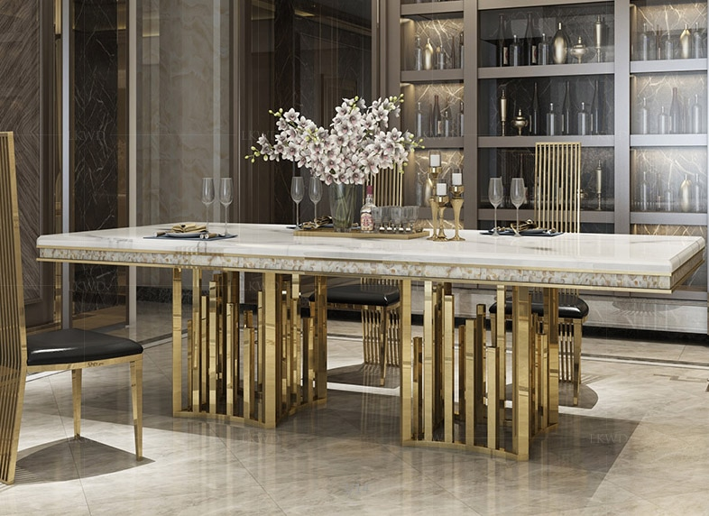 Rama Dymasty stainless steel Dining Room Set Home Furniture modern .