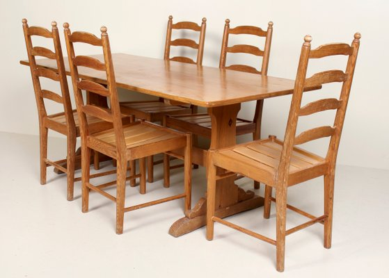 Vintage Pine Dining Table Set from Ercol for sale at Pamo