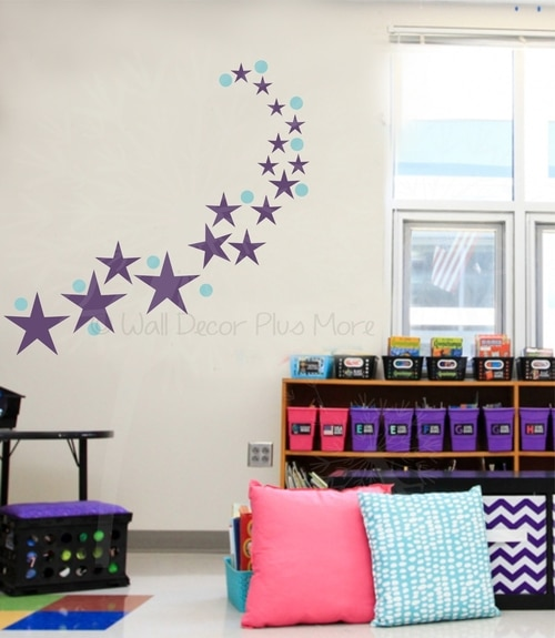 3-Inch Polka Dots Vinyl Wall Stickers for Easy Kids Room Decor, 28