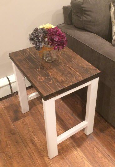 Pottery Barn Inspired End Table | Pottery barn inspired, Diy end .