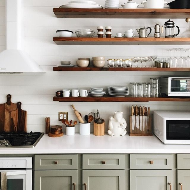 We think you can never have enough floating shelves...and this .