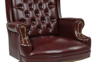 Work Smart High-Back Traditional Mohogany Executive Chair .