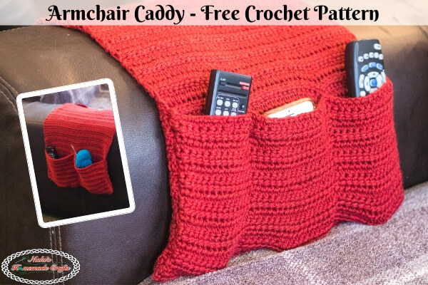 How to Crochet an Armchair Caddy Easily with this Free Pattern .