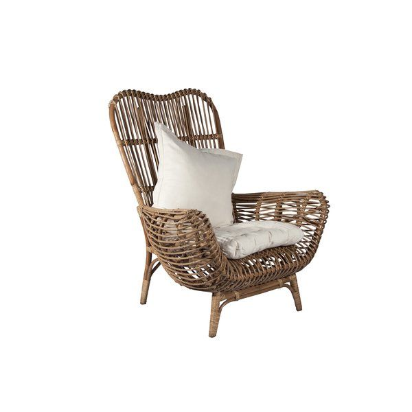 Round Back Rattan Patio Chair in 2020 | Furniture, Patio chairs .