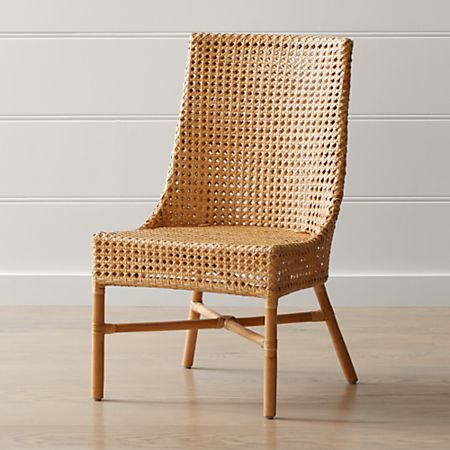 Maluku Natural Rattan Dining Side Chair + Reviews | Crate and Barr