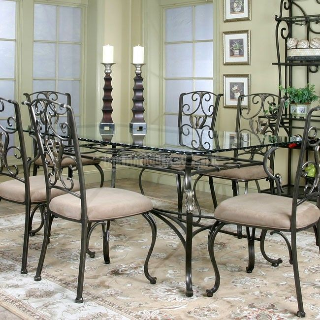 Wescot Rectangular Glass Dining Table | Glass dining room table .
