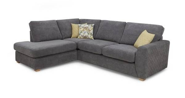 Astaire Right Hand Facing Arm Open End Corner Sofa Sherbet | DFS .