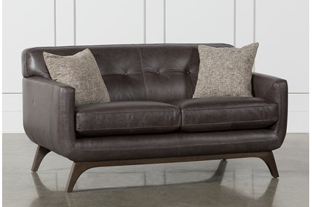 Cosette Leather Loveseat | Living Spac