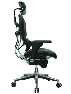 Ergohuman Black Leather High End Office Chair LE9ERG by Eurote