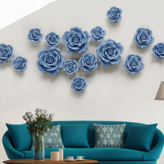 Wall Decorations Room Ornaments Handmade Ceramic Flowers for Home .