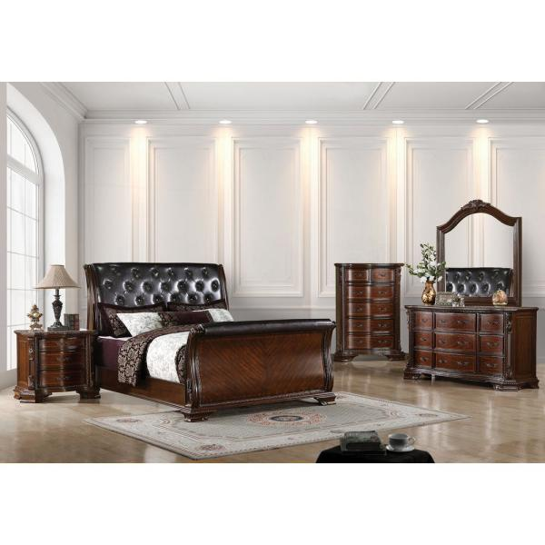 William's Home Furnishing South Yorkshire Queen Bed in Brown .