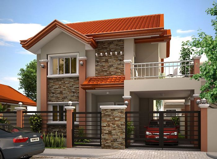 MHD-2012004 | Philippines house design, Modern bungalow house .