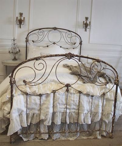Parisian Antique Iron Bed c1910 by FullBloomCottage on Etsy .