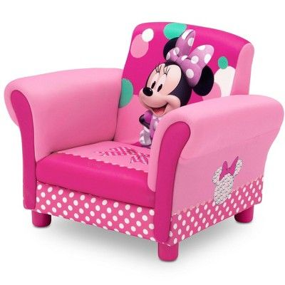 Minnie Mouse Upholstered Kids Armchair - Disney   Minnie mouse .