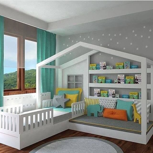 The BEST DIY Reading Nook Ideas!   Toddler house bed, Toddler .