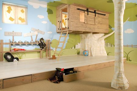 Tree House Themed Kids Room Bfefbeb Awesome Rustic Playroom Ideas .