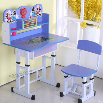 Used School Furniture Daycare Cartoon Picture Kids Study Table And .