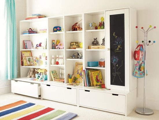 Toy storage unit (IKEA). I need an idea for this once we finish .