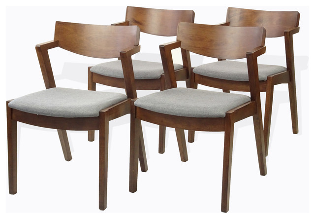 Wicker Furniture Set Of 4 Tracy Dining Kitchen Armchair, Solid .