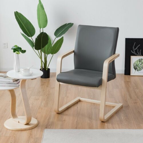 1pcs PU Leather Fabric Wooden Dining Table Chair Cafe Kitchen .