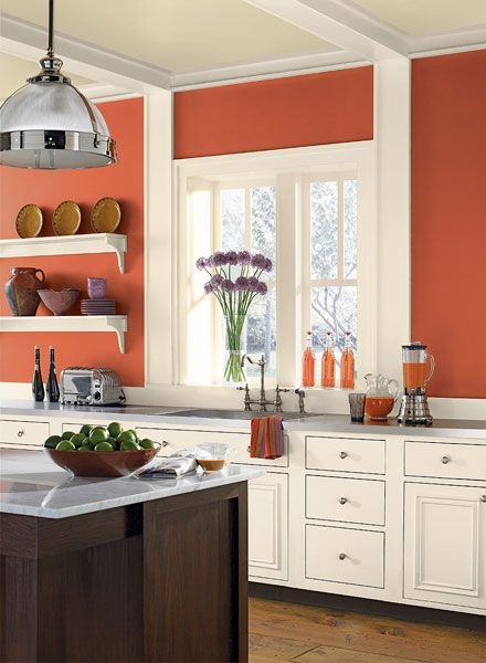Kitchen Color Ideas & Inspiration (With images) | Kitchen wall .