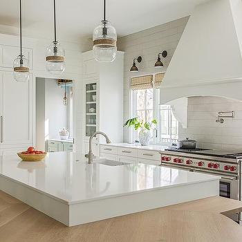Large White Glass Kitchen Wall Tiles Design Ide