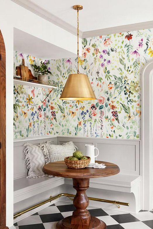 Kitchen Wallpaper to Spice up the Room | Bright wallpaper, Kitchen .