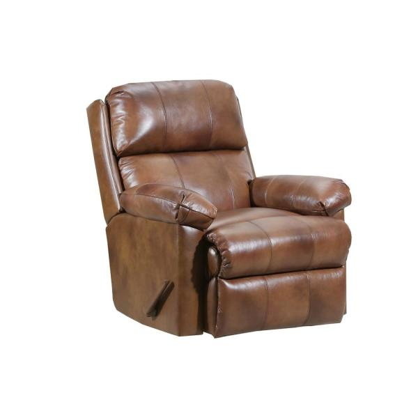 Lane Soft Touch Chaps Leather Rocker Recliner 4205-19 Chaps - The .