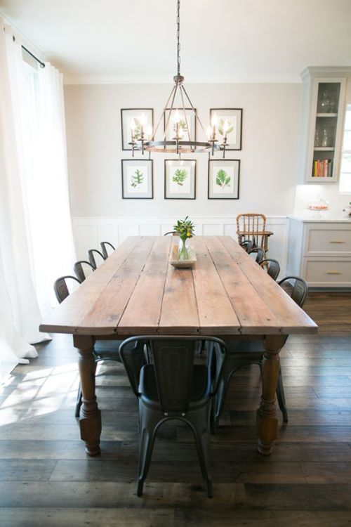 8 rustic farmhouse dining rooms perfect for big families | Modern .