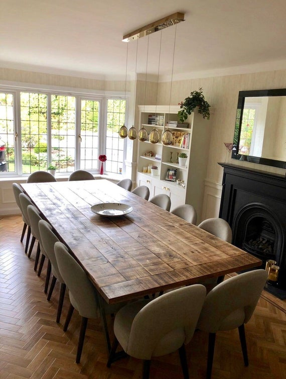 Rustic industrial extra large dining table/ boardroom table | Et