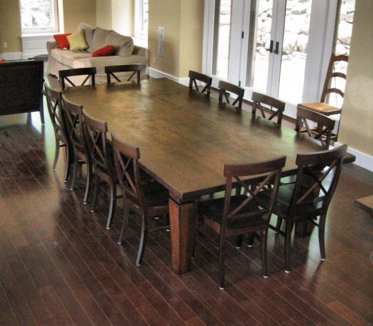 Captivating 12 Seater Square Dining Table | Large dining room .