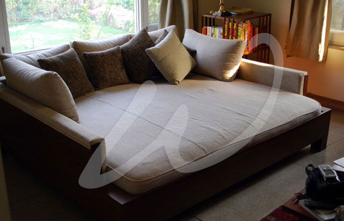 Add a chunky cable knit throw,fur pillows and this would be .