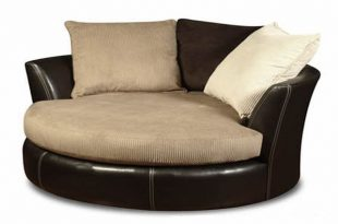 Large Swivel Chair (With images) | Round sofa chair, Living room .