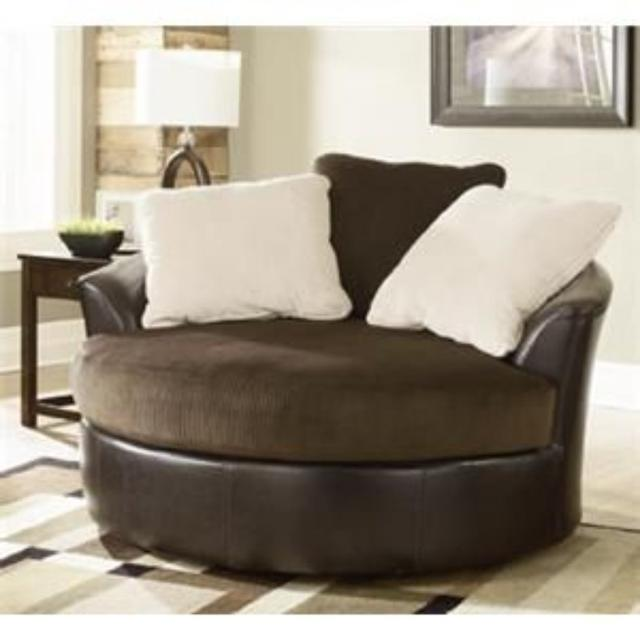 Best Ashley Furntiure Extra Larger Round Swivel Chair for sale in .