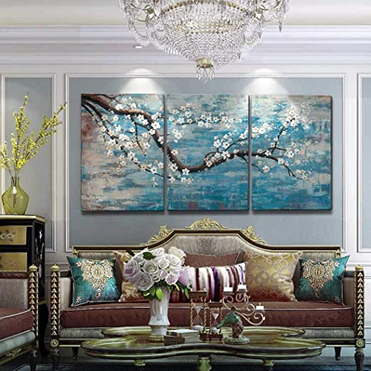 Amazon.com: Extra Large Wall Art for Living Room 100% Hand-Painted .