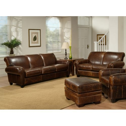 Plaza - Top Grain Leather Sofa and Loveseat. COSTCO. Now this is a .