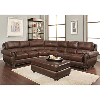 Corry 6-piece Leather Power Reclining Sectional Sofa, Gr